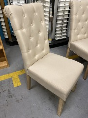 Cream dinning chair