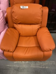 Kids Mini Orange Recliner