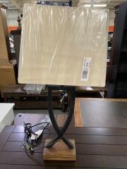 Brown Metal Criss Cross Lamp
