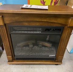 Small Electric Rolling Fireplace