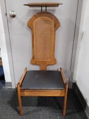 Antique Wicker Storage Chair