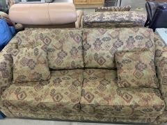 Brown cloth sleeper sofa